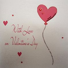 white cotton cards with Love on Valentine's Day Handmade Valentine's Card with Heart Balloon - http://www.css-tips.com/product/white-cotton-cards-with-love-on-valentines-day-handmade-valentines-card-with-heart-balloon/ #affiliate