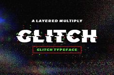 9 Best Glitch Font images in 2018   Design posters, Graphic design
