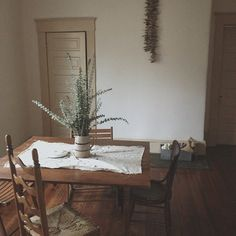 driftwood & eucalyptus in my dining room #athomewithSA