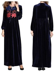 HIKO23 Muslim Dress for Women Mosque Prayer Loose Cardigan Gown Ramadan Clothing Dubai Kaftan Dresses Robes