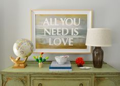 Word Up | Young House Love, paint a quote over top of existing painting