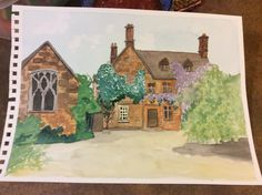 Watercolour challenge The Cotswalds in England