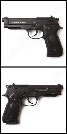 Beretta M92A1 Vollmetall CO2 Pistole - Kal. 4,5mm Stahl BBs    - mit Blowback Funktion -