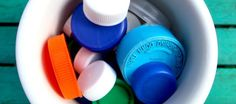 Trash Backwards ~Reduce, Recycle, Repair, Rethink.      Plastic Bottle Caps © Liesl Clark