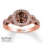 Le Vian Engagement Ring 1 3/8 cttw Diamonds 14K Strawberry Gold