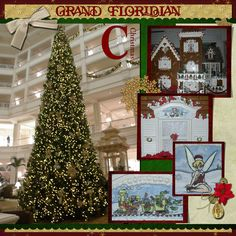 Lobby at Christmas - MouseScrappers.com