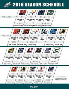Eagles Release 2016 Season Schedule