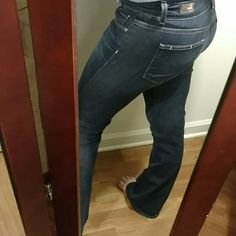 Paige jeans Like new Paige jeans. Size 27 H.H boot with a 32 inch inseam. These are very comfy and flexible and true to size. So classy looking. 80% cotton 19% polyester and 1% spandex. Quality made jeans Paige Jeans Jeans Boot Cut