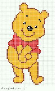 Trendy Knitting Charts Disney Winnie The Pooh Ideas Beaded Cross Stitch, Cross Stitch Baby, Cross Stitch Charts, Cross Stitch Designs, Cross Stitch Embroidery, Cross Stitch Patterns, Beading Patterns, Embroidery Patterns, Winnie The Pooh