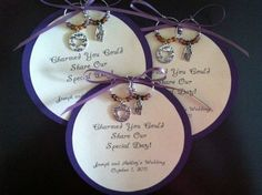 Wedding Favors Wine Charm Wedding Favors $2.50 Perfect for wedding favors, bridal shower favors, baby shower favors, rehersal dinner favors, dinner party favors, birthday party favors, wine tasting