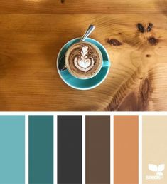 { Color Sip } Image Via: Bedroom Color Scheme To Account For Wood Floor    Walls Should Be Darker Blue, Bedframe Is Black/brown