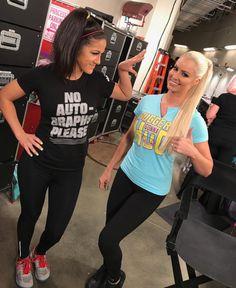 Bayley and Maryse Ouellet! Wrestling Stars, Wrestling Divas, Women's Wrestling, Wwe Maryse, Pamela Martinez, Maryse Ouellet, Wwe T Shirts, Best Instagram Photos, Wwe Female Wrestlers