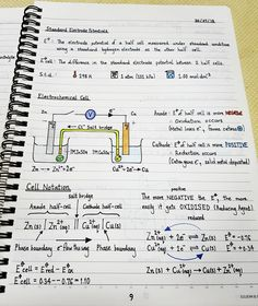 A Level Chemistry Notes Electrochemistry Hey guys The chemistry notes that I will post for the rest of the year are notes that I chemistry A Level Chemistry Notes, Study Chemistry, Chemistry Classroom, Chemistry Humor, Physical Chemistry, Chemistry Lessons, Teaching Chemistry, Chemistry Experiments, Science Chemistry