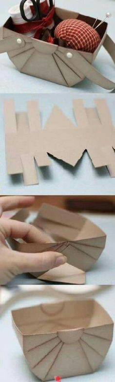 Burn the edges of cardboard for attractive look