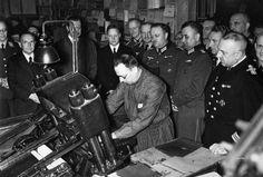 1939, Allemagne, Berlin, Visite des chefs d'unités de propagande des forces armées au haut commandement de la Wehrmacht  