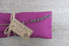 Lavender Eye Pillow ? Plum ? Relaxation ? Yoga ? Calm ? Peace ? Eye Cover ? Meditation ? Organic Body Care