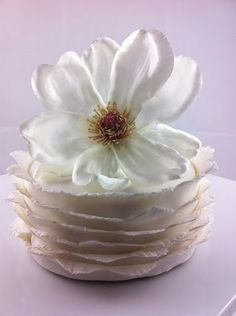 how to make a ruffle cake - fondant