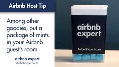 Most Airbnb guests chat with lots of people during their trip, so fresh breath is always appreciated.   #Airbnb #LifesBetterWithAirbnb #AirbnbExpert