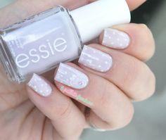 Essie bridal collection 2015 hubby for dessert - plumetis wedding nails