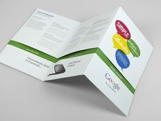 This is a leaflet / poster we designed for Google.    It went out to education providers and explained the benefits of Google's educational offering.    It folded out to form a big poster, ideal for staff room pin-boards.