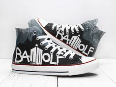 781f102d964d Bad Wolf Doctor Who custom made converse sneakers whovian shoes with TARDIS  1. Authentic Chucks