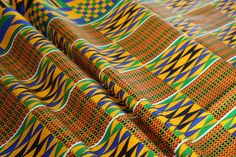 Cheap Kente Print Fabric - Ankara African Print - African Fabric - African Print - Fabric per yard - Clearance by EtamStudio on Etsy African Fabric, Unique Outfits, Ankara, Crafts To Make, Printing On Fabric, Quilts, How To Make, Yard, Etsy