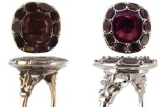 This Garnet ring was remade and the original stones reset into the new ring.