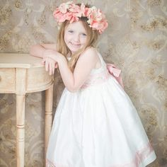 Our April #savannahGirl Averi looks so beautiful in our dress! Be sure to see who her favorite  princess  is on our website !  www.savannahchildren.com