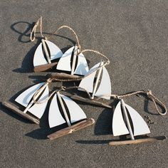 Driftwood Sailboat Garland | Garland Decoration | Coastal Decor - buy the sea