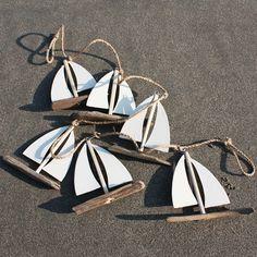 Driftwood Sailboat Garland   Garland Decoration   Coastal Decor - buy the sea