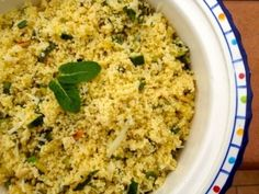 Antonella in Florence, Italy shared her spring Cous Cous with Feta recipe in celebration of Food Revolution Day. Don't hold the mint!