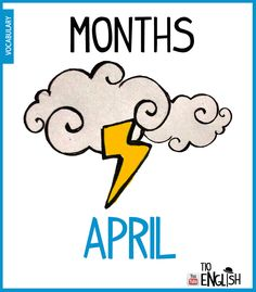 April, months of the year in English. Initial English vocabulary