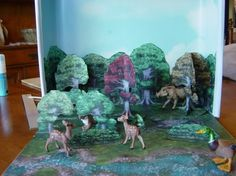 Diorama deciduous forest wallpapers