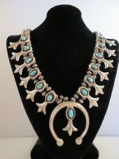 VTG OLD Pawn Navajo Marked Squash Blossom Necklace 225 grams .99 starting fee