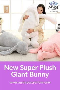 New Super Plush Giant Bunny Birthday Gifts For Boys, Birthday Gifts For Girlfriend, Friend Birthday Gifts, Gifts For Kids, Bunny Toys, Bunny Plush, Whale Plush, Giant Bunny, Easter Toys