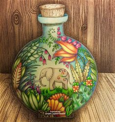 Take a peek at this great artwork on Johanna Basford's Colouring Gallery! Jungle Coloring Pages, Coloring Book Art, Colouring Pages, Adult Coloring, Johanna Basford Books, Johanna Basford Coloring Book, Magical Jungle Johanna Basford, Colored Pencil Tutorial, Secret Garden Coloring Book