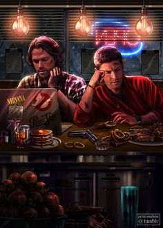 The Last Diner before the End of the World - (2017) My contribution to the @supernaturalartbook (Hunters section, p. 22). The title is a reference to the movie The World's End with Simon Pegg. A lot...