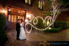 Wedding Photography by FamZing Photography & Video | Sparkler Love Shot