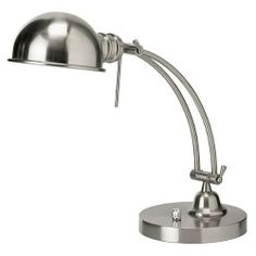 Dainolite DM1958-SC Pharmacy - One Light Table Lamp, Satin Chrome Finish with Metal Shade by Dainolite, http://www.amazon.ca/dp/B0036DEACW/ref=cm_sw_r_pi_dp_l7dztb0NWVX5Z