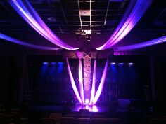 Carved Cross from West Cobb Church in Marietta, GA | Church Stage Design Ideas