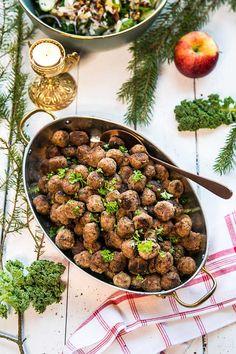 Julköttbullar med kryddpeppar och nejlika - Landleys Kök Kung Pao Chicken, Ethnic Recipes, Food, Essen, Meals, Yemek, Eten