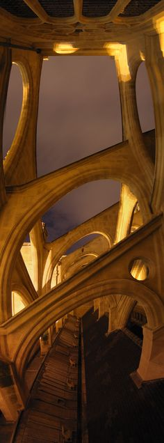Panoramic buttresses at Église Saint Eustache (The Church of St Eustace) in Paris  • orig. source not found