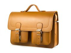 SALE 20% OFF Satchel leather bag TAN Leather by CovoyLeather