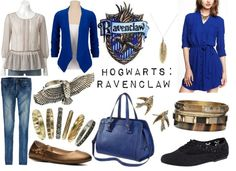 Ravenclaw inspired, by sarahstrauss on polyvore.