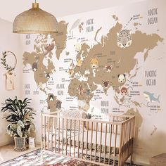 Little Hands Wallpaper Mural ( Baby Room Themes, Bedroom Themes, Baby Room Decor, Nursery Themes, Room Decor Bedroom, Travel Theme Nursery, Bedroom Ideas, Wall Decor, Baby Bedroom