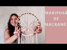 YouTube mariposa de macrame, bastidor decorado, como hacer una MARIPOSA DE MACRAMÉ, decoracion con mariposas