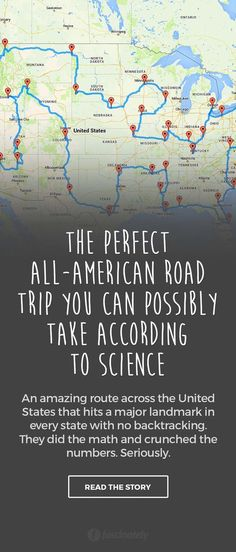 The Perfect All-American Road Trip You Can Possibly Take According to Science