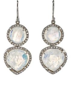 Irene Neuwirth Diamond Collection Mixed-Gemstone Double-Drop Earrings at Barneys New York