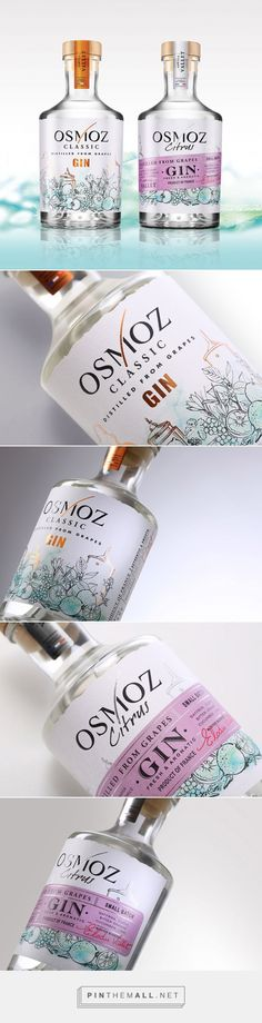 Osmoz Gin Classic & Citrus by LINEA -The Spirit Valley Designers. Source: Daily Package Design Inspiration. Pin curated by #SFields99 #packaging #design #inspiration #ideas #branding #product #alcoholic #beverages