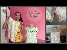 Como fazer abertura lateral na barra de blusas, calças ou vestidos Alana Santos Blogger - YouTube